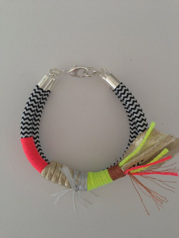 Walk Like An Egyptian bracelet neon yellow on Etsy, $39.00 AUD