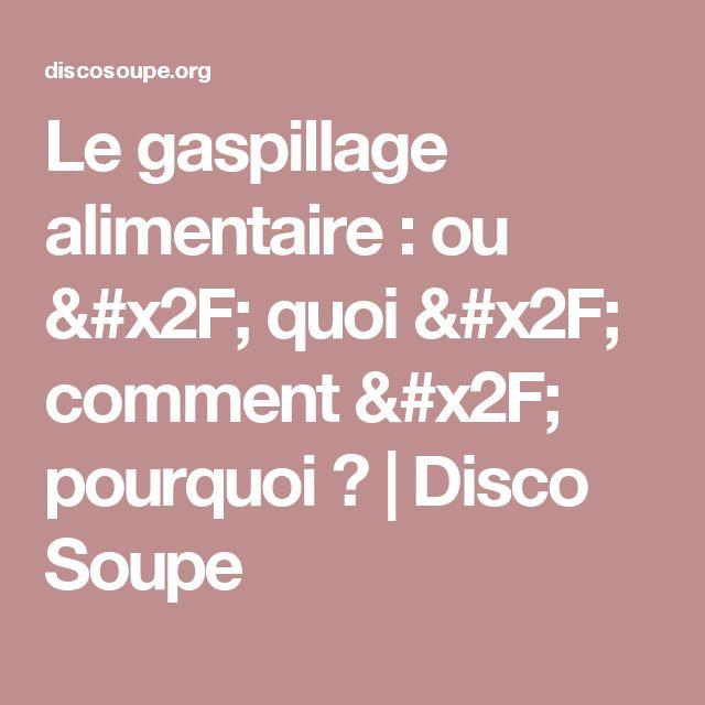 Le gaspillage alimentaire : ou / quoi / comment / pourquoi ? | Disco Soupe