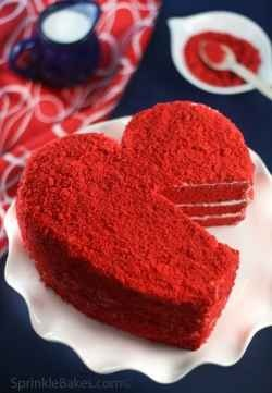 Valentines Day Baked Goods, red velvet cake recepie and pans