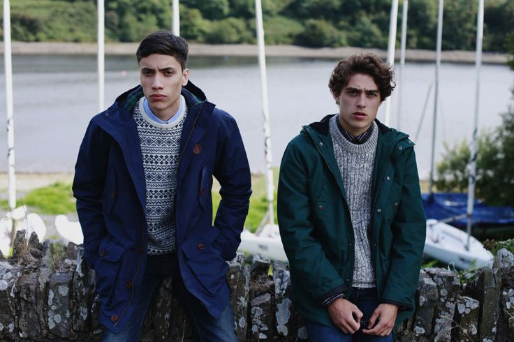 From Left to Right: Fred Perry Mountain Parka (Dark Carbon Blue), Farah Hereford Knit (Navy), Solid Colour Microfleece Lined Jacket (Scotts Green), Farah Stafford Knit