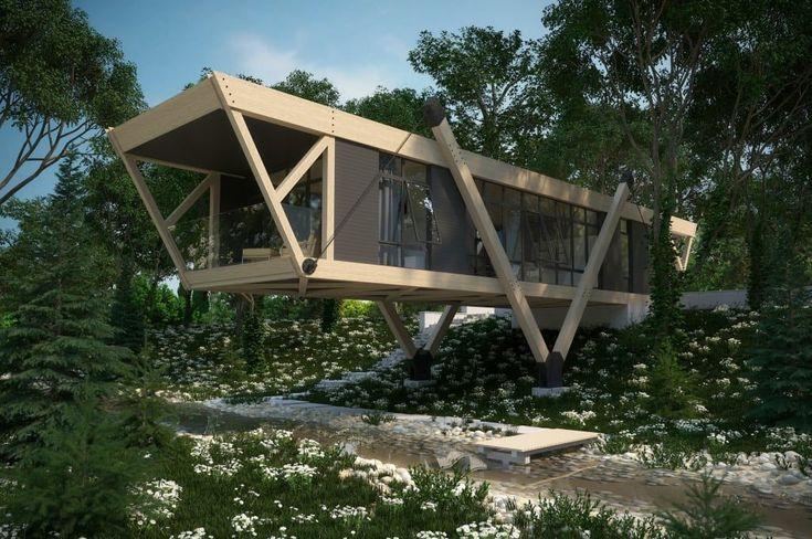 Busca imágenes de diseños de Casas estilo minimalista de Максим Любецкий. Encuentra las mejores fotos para inspirarte y crear el hogar de tus sueños.