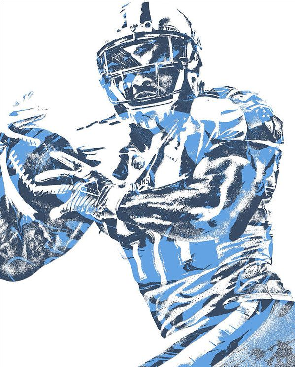 cc6eb921 Delanie Walker Tennessee Titans Pixel Art 14 Art Print | NFL PIXEL ...