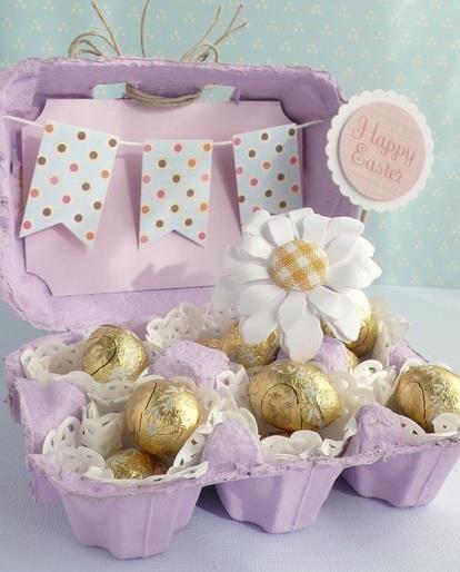 Envoltorios originales para huevos de pascua.