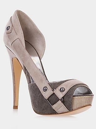 ~Kira Peep-toe Pump - I have almost the same one, in magenta-black and a little bit smaller heels. gorgeous.
