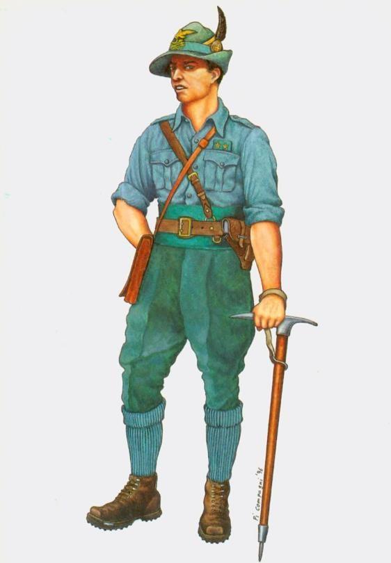 Regio Esercito - Tenente del Genio Alpini in uniforme estiva, 1942
