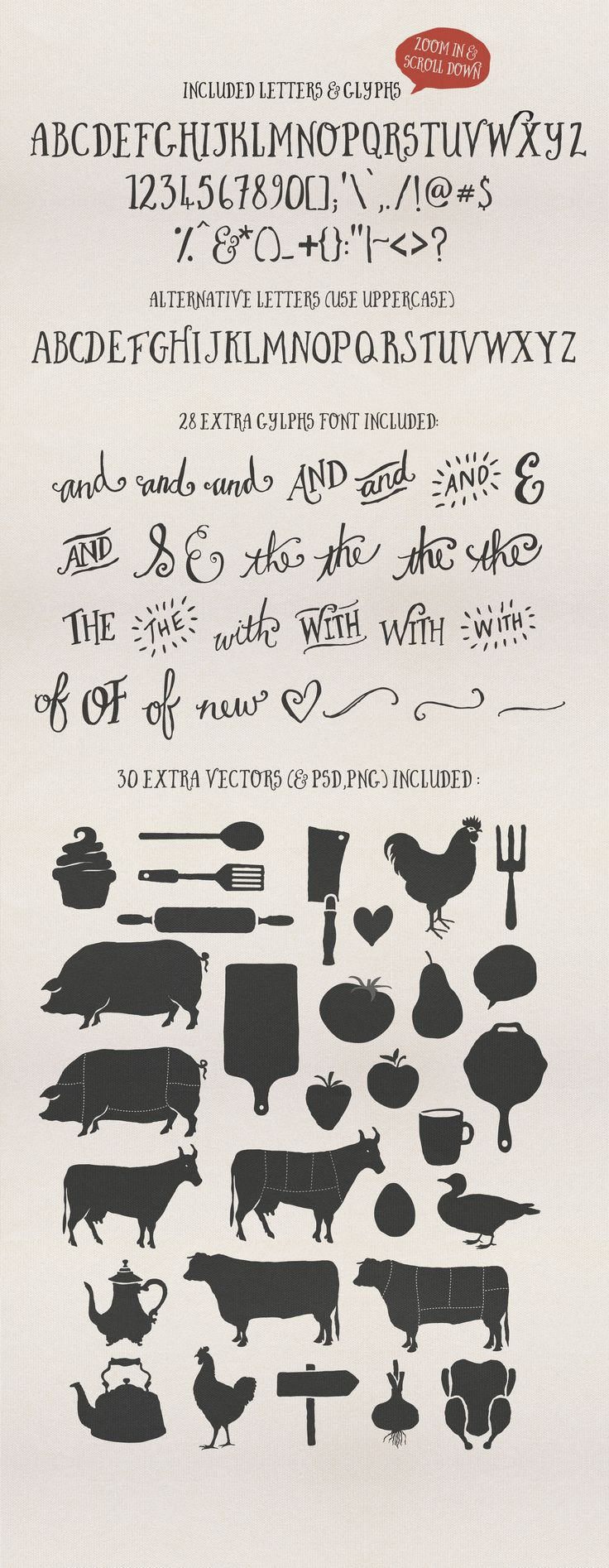 Introducing the new Butcher and Block Typeface another carefully hand-made, quirky, versatile font, crafted with love :)