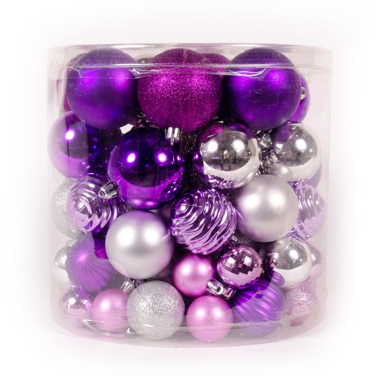 WeRChristmas 80-Piece Deluxe Variety Christmas Tree Baubles Decoration Pack, Pink/ Purple/ Silver/ Fuchsia: Amazon.co.uk: Kitchen & Home