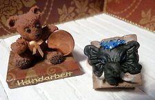 **Kleines Buch, Foliant, mit modelliertem Elefantenkopf, tolle Deko, M 1: 12**