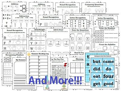 Get Ready for 1st Grade! Math, Literacy, & Flashcards for Incoming 1st Graders from Happy Days in First Grade on TeachersNotebook.com