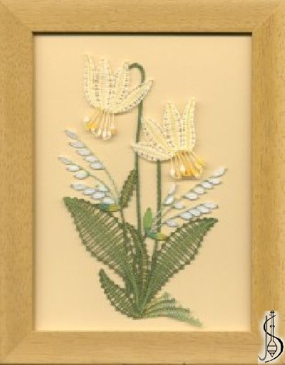 Blossom No. 10124     Yellow frame with glass, dimensions 15 x 20 cm, frame selection: yellow, blue, green, red, cinnamon, colored / white lace Price: € 29 ............................  Protected by copyright!