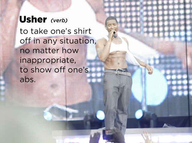 Usher: | 22 Celebrities Defined By Urban Dictionary