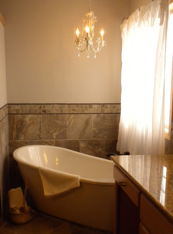 These Homeowners Chose To Replace A Corner Jetted Tub With This Beautiful Free Standing Soaker