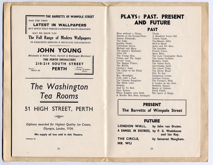 Scene form the  Past Plays In Perth Theatre Scotland