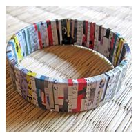 Paper Melon - Recycled Newspaper Bracelet