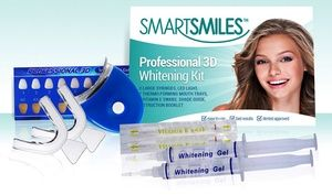 Save a trip to the dentist's office with this kit, which lets you whiten your own teeth at home; results may be seen in even one application