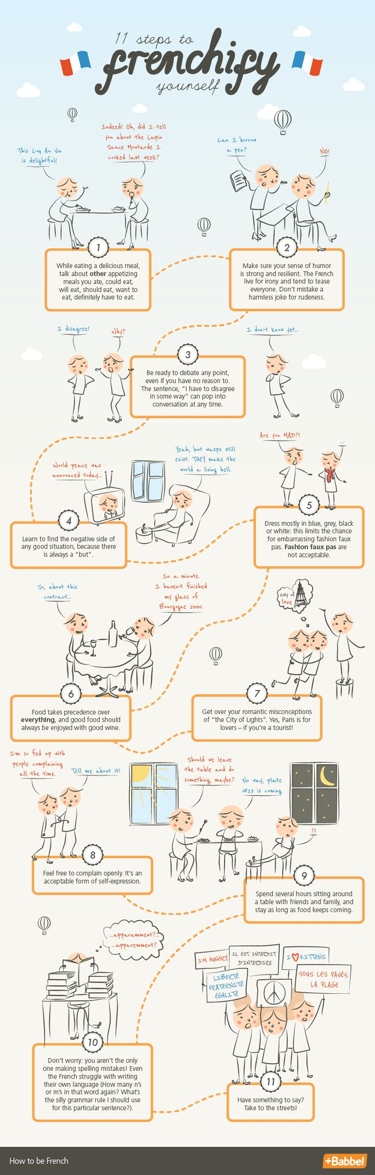 11 Steps to Frenchify Yourself http://www.babbel.com/magazine/11-steps-to-frenchify-yourself