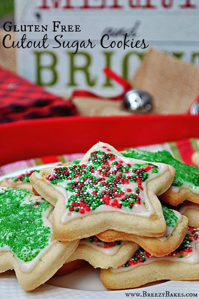 Gluten Free Soft and Fluffy Cutout Sugar Cookies