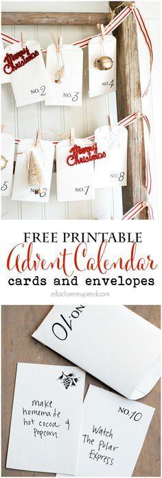 Free printable vintage Christmas advent calendar - 25+ Christmas advent calendar ideas - NoBiggie.net