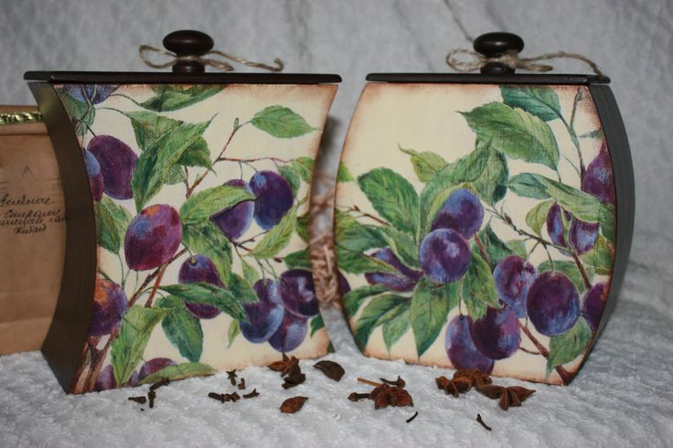 Ripe Plums Set of boxes for products Box Tea Dried fruit Box Gift box Purple box for herbs Gift boxes,purple box Wooden storage box with lid by WingsandHands on Etsy
