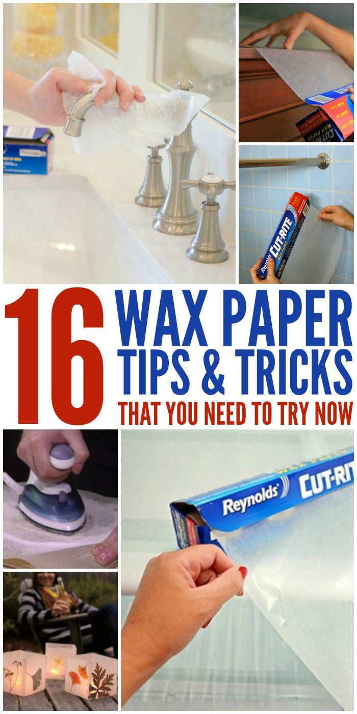 16 Genius Wax Paper Tips