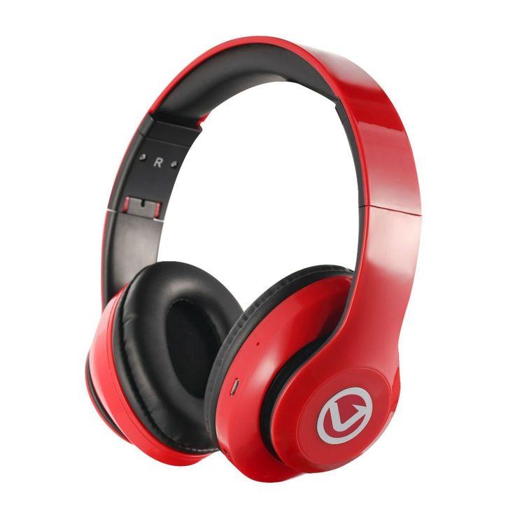 Volkano Impulse Series Over-Ear Multi-Function Bluetooth Headphones #VB-VH101-RD