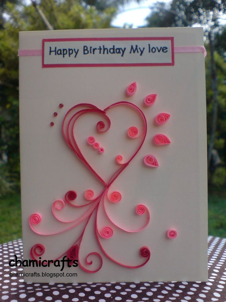 Handmade Love Greeting Cards For Boyfriend. Homemade ...