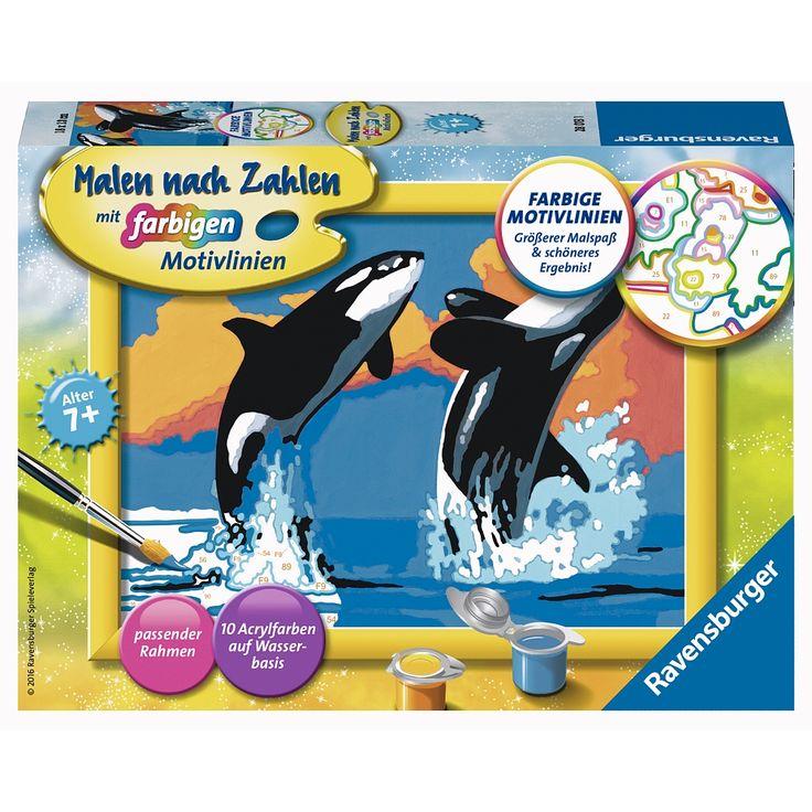 "Ravensburger - Malen nach Zahlen: Verspielte Orcas - Ravensburger - Toys""R""Us"