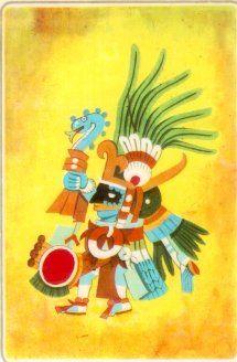 Huitzilopochtli, DIos maya, compartido con los aztecas. (Hunab KU)