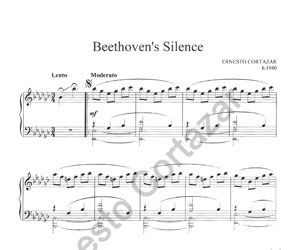 """""""Beethoven's Silence - Sheet Music"""" is now available on ErnestoCortazar.net - Ernesto Cortazar (Relaxing Piano Music)"""