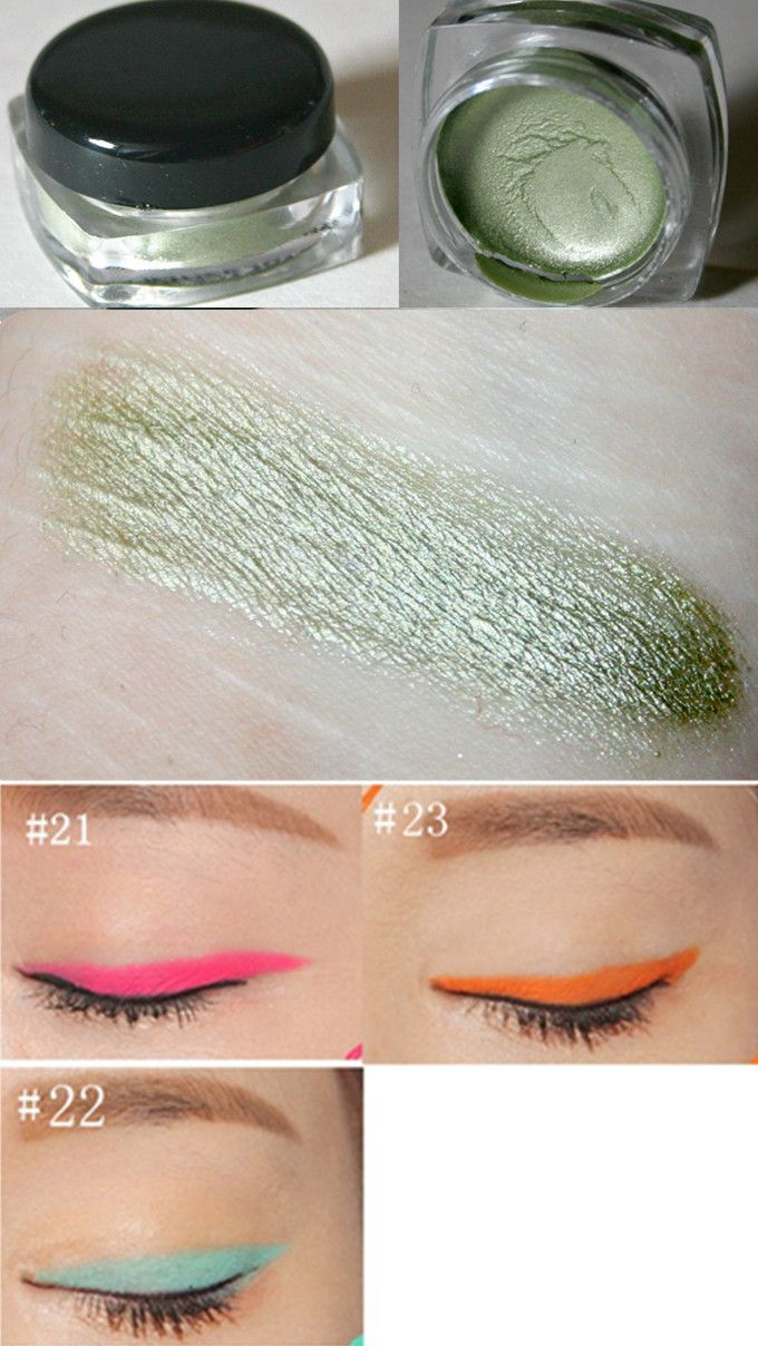 $3.65 1pc Eyeshadow Eyeliner Gel Colorful Shiny Waterproof Eye Shadow Beauty Eye Makeup Comestics - BornPrettyStore.com
