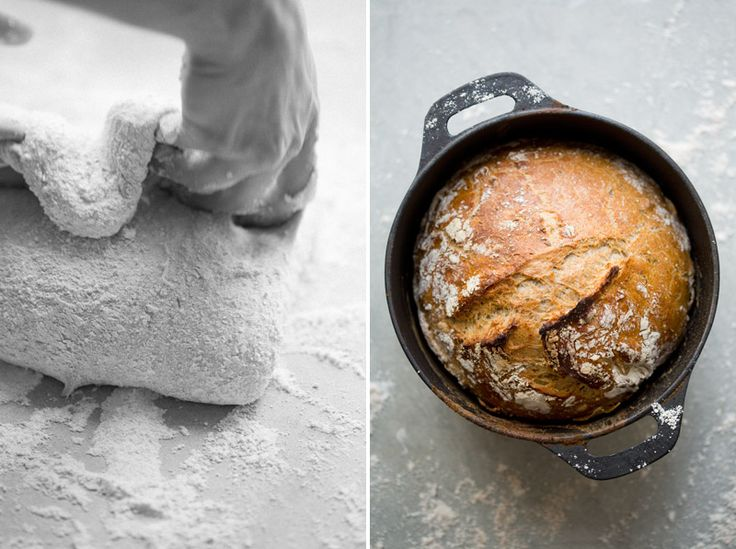 Dutch Oven No-Knead Herb Bread
