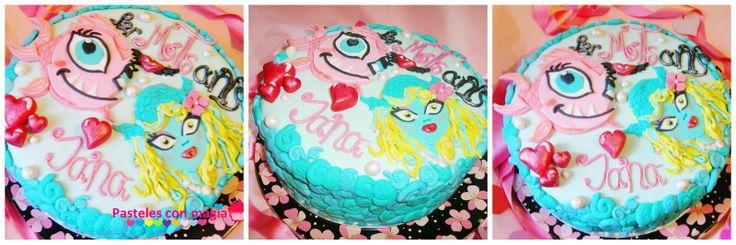 Tarta Monster high laguna blue - cake Monster high laguna blue.- tarta para niñas- girl cake