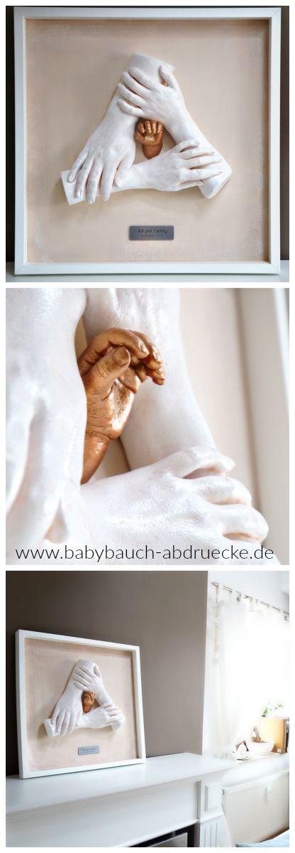 Family Hand casting, best keepsake ever! Made by german Artist Julia Schulze, www.babybauch-abdruecke.de