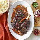 Try the Pomegranate-Merlot Braised Lamb Shanks Recipe on williams-sonoma.com