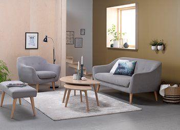 Sofa EGEDAL 2,5 seter lys grå