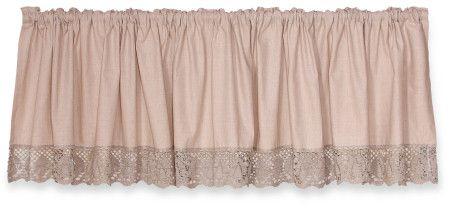 Curtain with lace by Teaspon. #curtain