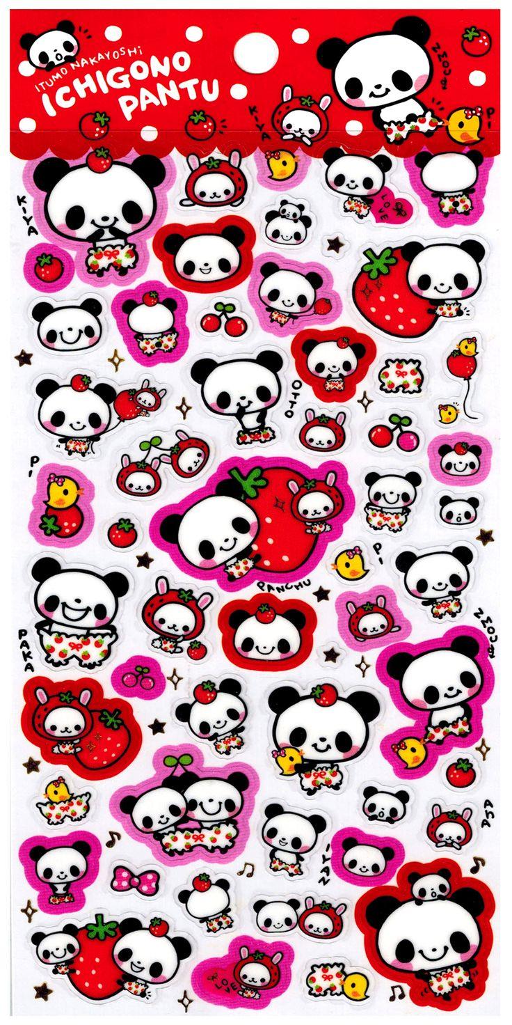 Pool Cool Ichigono Pantu Strawberries Sticker Sheet at http://shop.kawaiidepot.com
