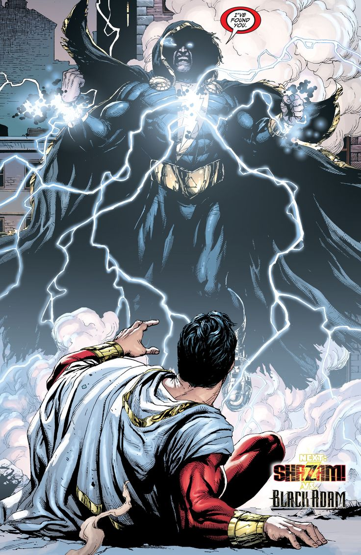 Black Adam vs Thor | DC Comics New 52's Shazam Volume 1: All 12 Amazing Gary Frank ...