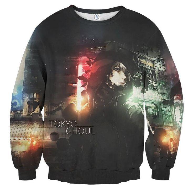 Tokyo Ghoul Super Awesome Design Dope Full Print Sweatshirt — Konoha Stuff #TokyoGhoul #Awesome # Sweatshirt #Konoha