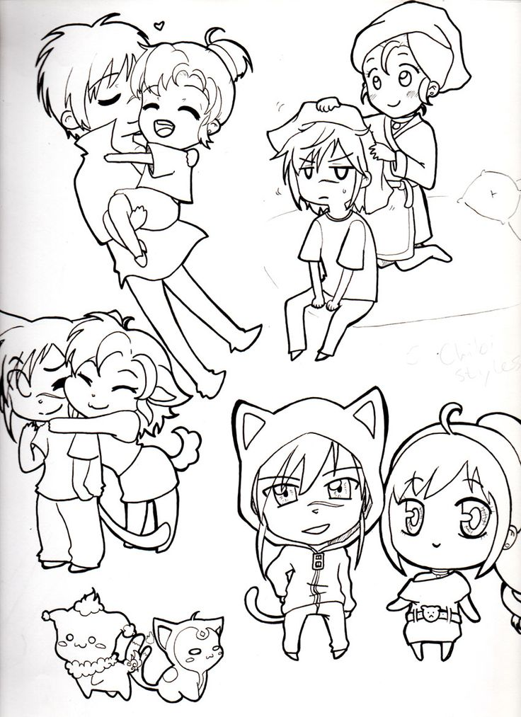 This is a picture of Genius Chibi Style Drawing