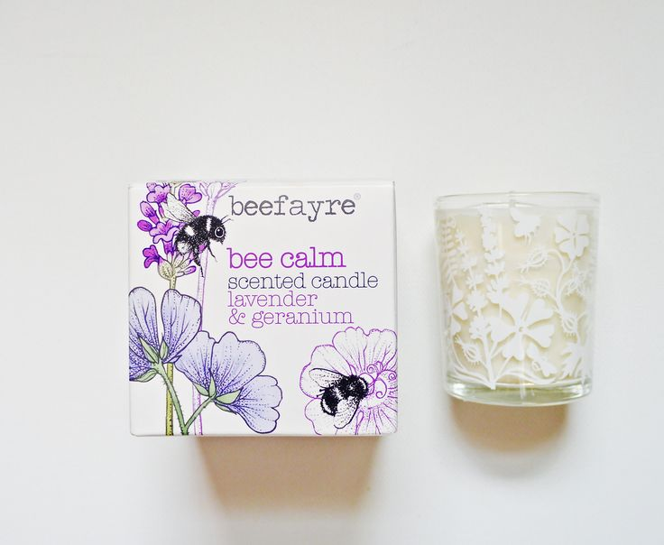 Bee Calm, Beefayre hand poured natural wax candle. www.storiesinthemaking.co.uk