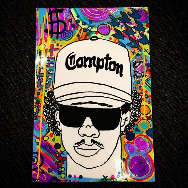 """Strait outta Compton"" by OG & FatKat. This is a tribute to legendary rap artist Eazy E. Follow our modern contemporary urban street art adventure on Instagram: @OGandFatKat #streetart #nwa #eazye #compton #OGandFatKat"