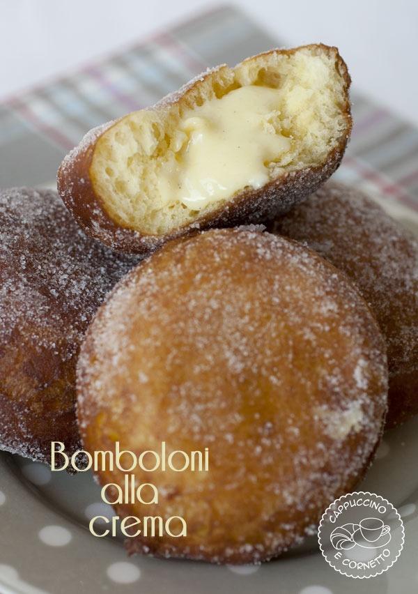 Bomboloni alla crema ( di Luca Montersino) | CappuccinoeCornetto