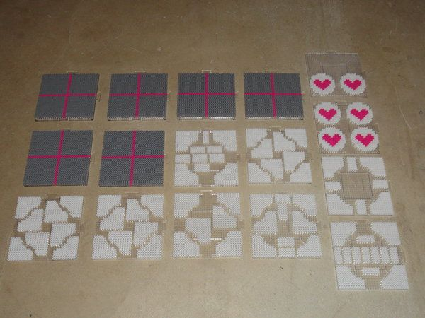 Companion Cube Perler Beads 1 (WIP) by FlaminYawn.deviantart.com on @deviantART