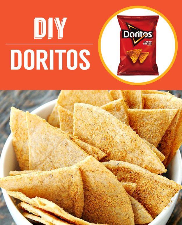 Nachos de queso Doritos caseros