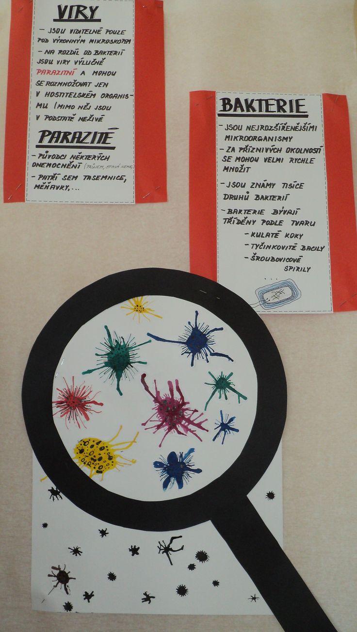 Viry a bakterie - rozfoukávaná tuš