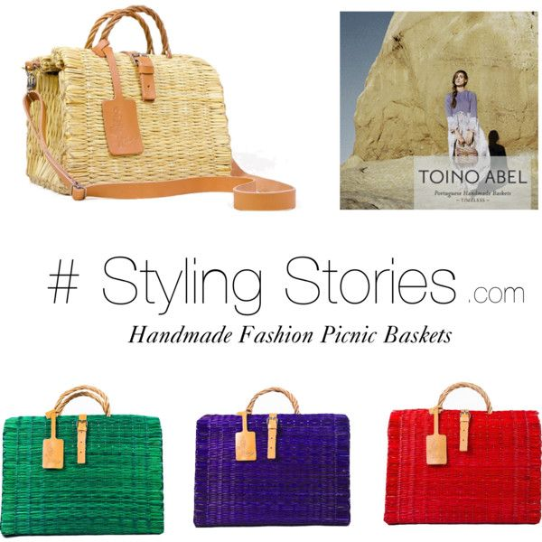 """Handmade Fashion Picnic Baskets at stylingstories.com""  #bag #picnic #picnicbaskets #baskets #travel #portugal #fashion #style #springfashion"