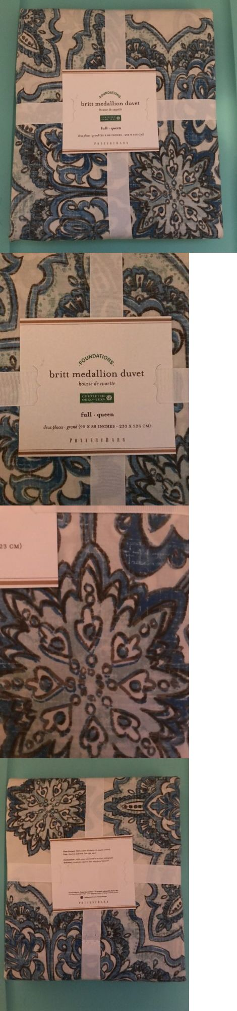 Duvet Covers and Sets 37644: Pottery Barn Duvet Cover Foundations Britt Medallion Full Queen *New With Tags* -> BUY IT NOW ONLY: $49.99 on eBay!