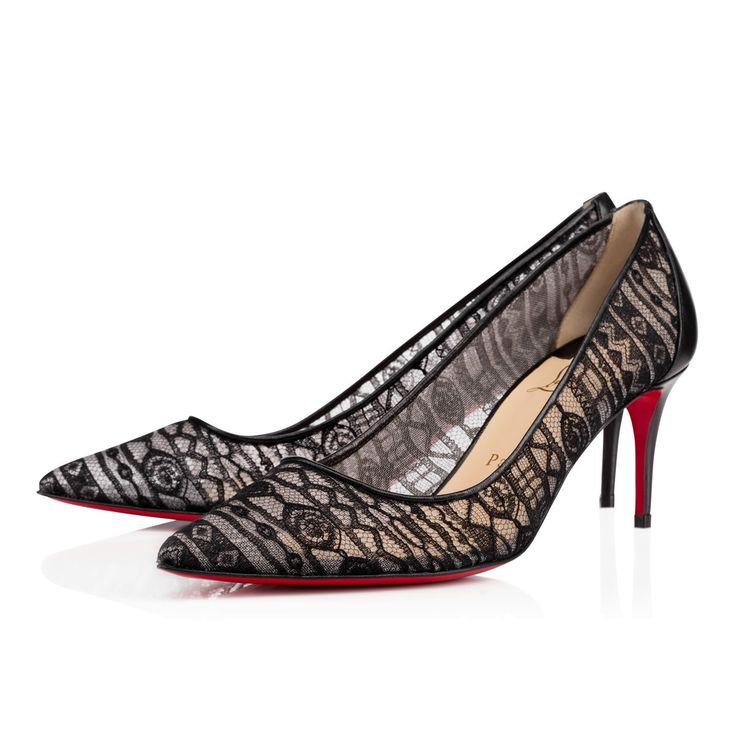 ポインテッドトゥーシースルーフロッキードットパンプス saramor 70 mm | CHRISTIAN LOUBOUTIN クリスチャン・ルブタン | レディース - 靴 - パンプス | Black | 海外通販ならLASO(ラソ)