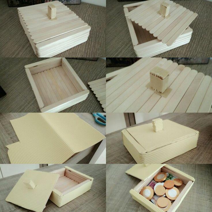 Κουτί από ξυλάκια παγωτού